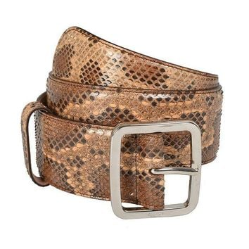 PEAPON Gucci Women's Python Skin Leather Belt US 28 IT 70