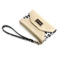 JAVOedge Leopard Wallet Case for the iPhone 4 & 4S (Beige) - Fits Verizon, AT&T, Sprint and other Carriers