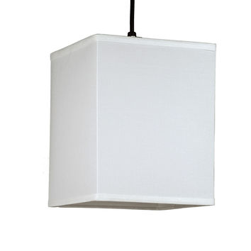 Lights UP Rex Small Square Pendant Light Brushed Nickel