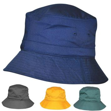NEW MENS WOMENS BUCKET HAT WITH TOGGLE SPORTS CRICKET CASUAL SUMMER HAT BLUE SUN