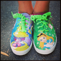 Custom Disney Alice in Wonderland shoes