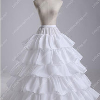 White Flounced Multilayer Floor Lenght Tutu Lolita Dress Petticoat