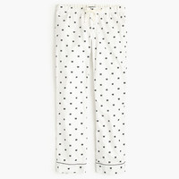 J.Crew Womens Bow Flannel Pajama Pant