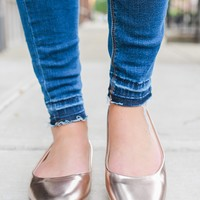 Casual Charm Flats - Rose Gold