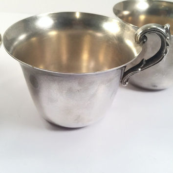 5 Silver Plated Punch Cups American Hallmark