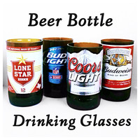 Beer Bottle Drinking Glasses (Set of 4 tumblers)