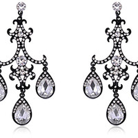 Vintage Style Crystal Tear Drops
