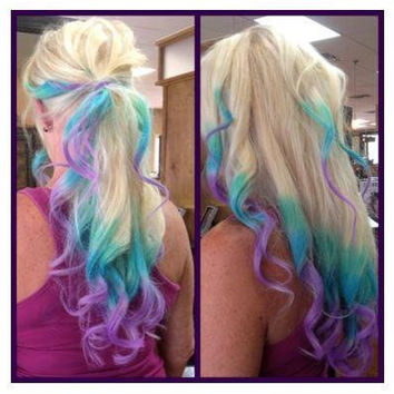 B O L D or pastel colored 12 inch human hair by ArtisicStrands