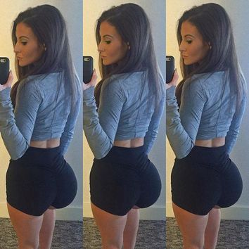 Hot Shorts Women Sporting Fitness Short Pants Female Workout Elastic Spandex Absorb sweat cultivate one's morality show thin buttock AT_43_3