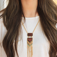 Rock Solid Tassels Necklace