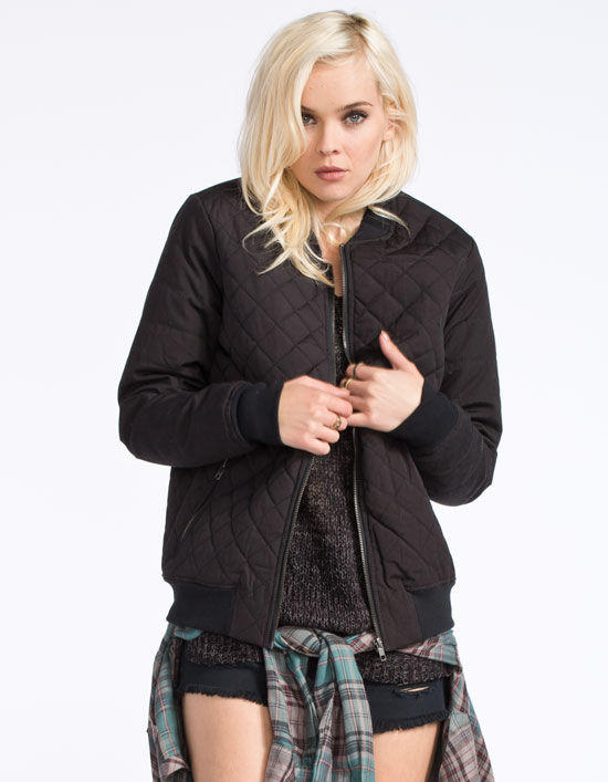 Rvca Mason Womens Quilted Bomber Jacket Black In Sizes - Rvca Mason Womens Quilted Bomber Jacket From Tilly's Things I