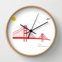 San Francisco.  Wall Clock by Irmak Berktas