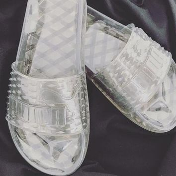 simpleclothesv ?? Puma Fenty Rihanna Slides Crystal Shoes Female Slippers