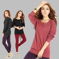 New Brand 2014 Cotton Blouses Women Plus Size 4XL Blusas Femininas Batwing Sleeve Buttons Casual Shirts Female Patwork Tops = 1958656196