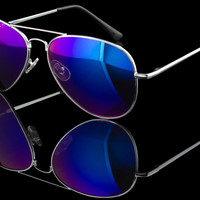 "Classic Mirror Lens Basic Aviator Sunglasses ""Vallarta"""