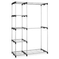 Freestanding Garment Rack Storage Unit with Hanging Rods