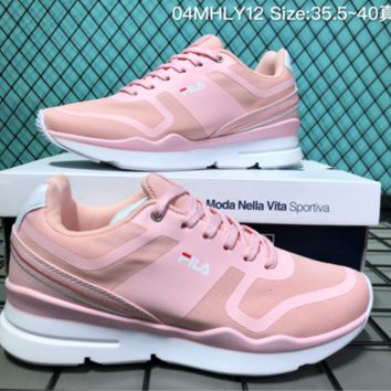 HCXX F001 Fila Summer Mesh Lightweight Breathable Running Shoes Pink
