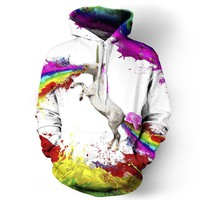 Unicorn Spew and Poo Rainbow Hoodie