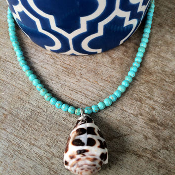 Hawaiian Hebrew Cone Shell Necklace
