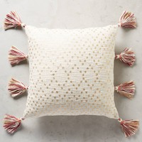 Tasseled Pointilliste Pillow