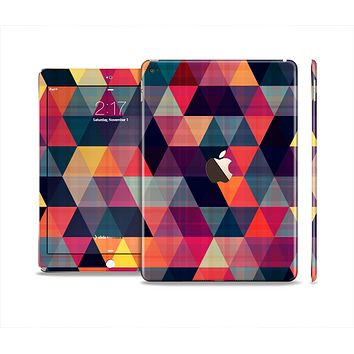 The Vector Triangular Coral & Purple Pattern Skin Set for the Apple iPad Air 2