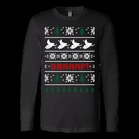 Snowmobile snowmobiler ugly christmas sweater xmas
