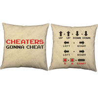 Cheaters Gonna Cheat Video Game Throw Pillows