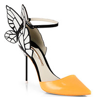 Clara Patent Leather Butterfly d'Orsay Pumps