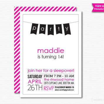 Shop Sleepover Party Invitations On Wanelo