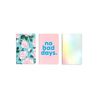BAN.DO HOLD THAT THOUGHT NOTEBOOK SET - ROSE PARADE/NO BAD DAYS