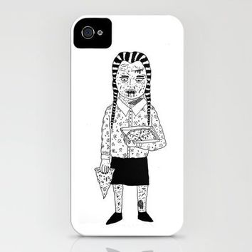 WEDNESDAY ADDAMS iPhone Case by WASTED RITA