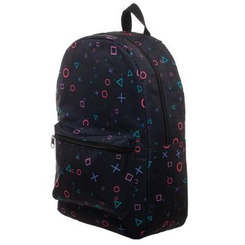 MPBP Playstation Print Playstation Button Sublimated Backpack - Playstation Backpack - Playstation Bag Gift