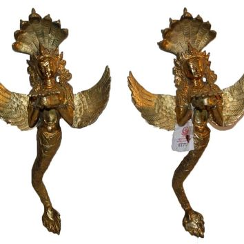 Agan Traders Bronze Fairy Candle Holder 2pc Set [13.0 inches Tall]