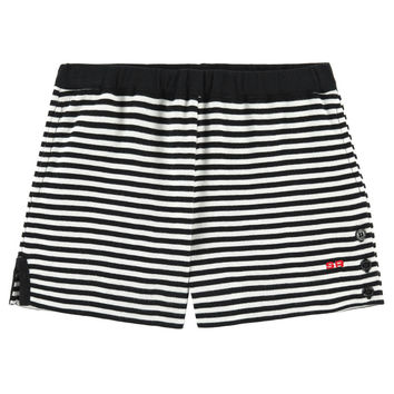 Sonia Rykiel Girls Black & White Striped Shorts