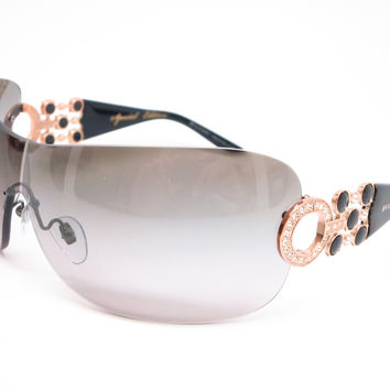 Bvlgari BV 6063B 376/11 Pink Gold / Gloss Black Sunglasses