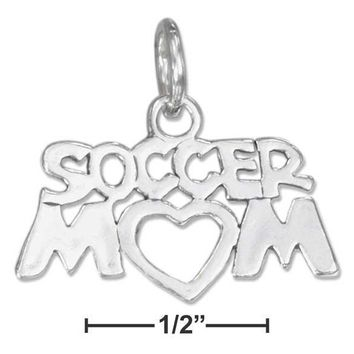 "Sterling Silver Charm:  ""soccer Mom"" Charm"