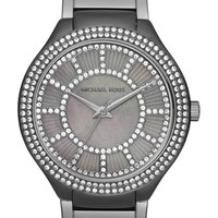Women's MICHAEL Michael Kors 'Kerry' Crystal Accent Bracelet Watch, 38mm - Gunmetal