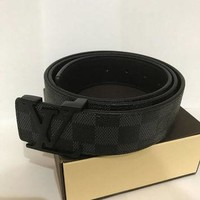 Real Leather Louis Vuitton Belt