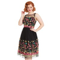Winifred Floral Mesh  Dress