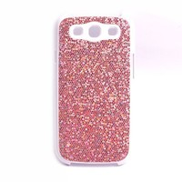 COCO FUN Bling Glitter Back Cover Skin Case For Samsung Galaxy S3 I9300, I747 (Verizon, Sprint, T-Mobile, AT&T) + Clear Flim Screen Protector, Hot Pink