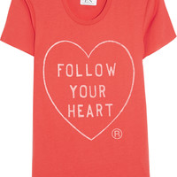 Zoe Karssen - Follow Your Heart cotton and modal-blend T-shirt