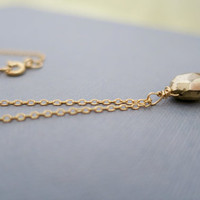 Simple Gemstone Necklace, Gold, Silver, Small Pyrite Thin 14k.Gold Filled, Sterling Silver Chain, Delicate Layering Necklace, Gift just1gold