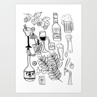Alcohol Doodles Art Print by Shashira Handmaker