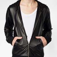 American Apparel - Matte Faux Leather Hoodie