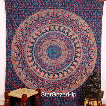 Queen Mandala Tapestry Boho Wall Hanging Hippie Beach Throw VS 018 QT