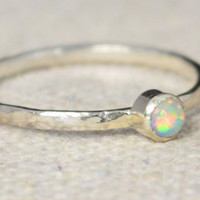 Classic Sterling Silver Opal Ring