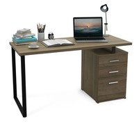 Modern Computer Office  Desk With Reversible File Cabinet