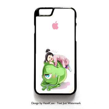Monster Inc Cute Mike And Boo for iPhone 4 4S 5 5S 5C 6 6 Plus , iPod Touch 4 5  , Samsung Galaxy S3 S4 S5 Note 3 Note 4 , and HTC One X M7 M8 Case Cover