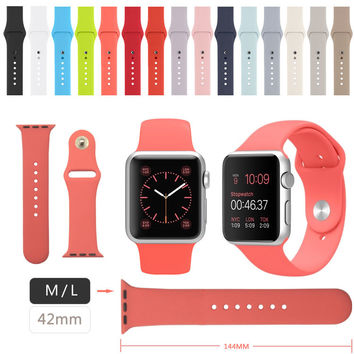 Silicone strap For Apple Watch Band Sport Band For Apple Watch Strap 42 M/L size