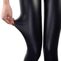 Faux Leather Leggings Navy Blue Sexy Women Leggins Thin Black Leggings Calzas Mujer Leggins Leggings Stretchy Leggins Push Up